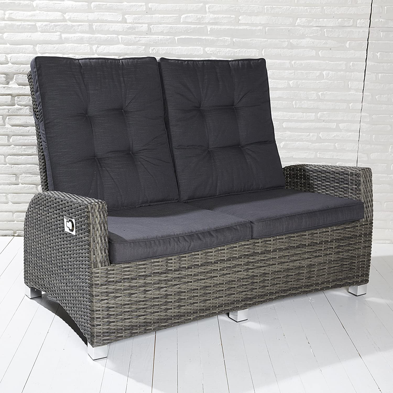 Luxus Zweisitzer Saint-Tropez grau Rocking Chair Sofa verstellbare Rückenlehne jetzt bestellen