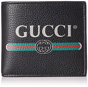 GUCCI(グッチ) [グッチ] 2つ折り財布 GUCCI PRINT グッチプリント ロゴ 小銭付き [並行輸入品]