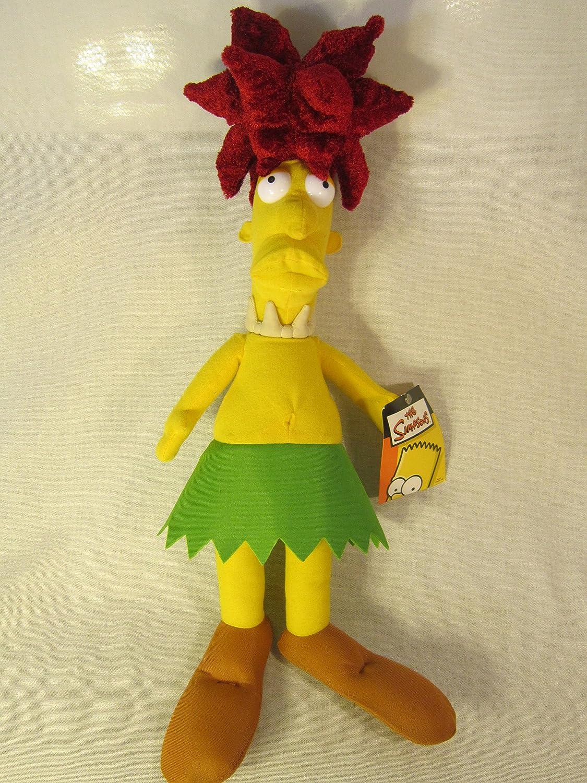 "Retired The Simpsons Krusty the Clown Sidekick Sideshow Bob 12"" Plush Doll"