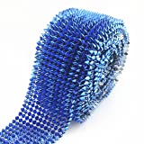 AEAOA 1 Yard Sapphire Sew Stitch On Spike Stud Cone Flatback Punk Rock Trim mesh Bead Craft (Sapphire) (Tamaño: Sapphire)