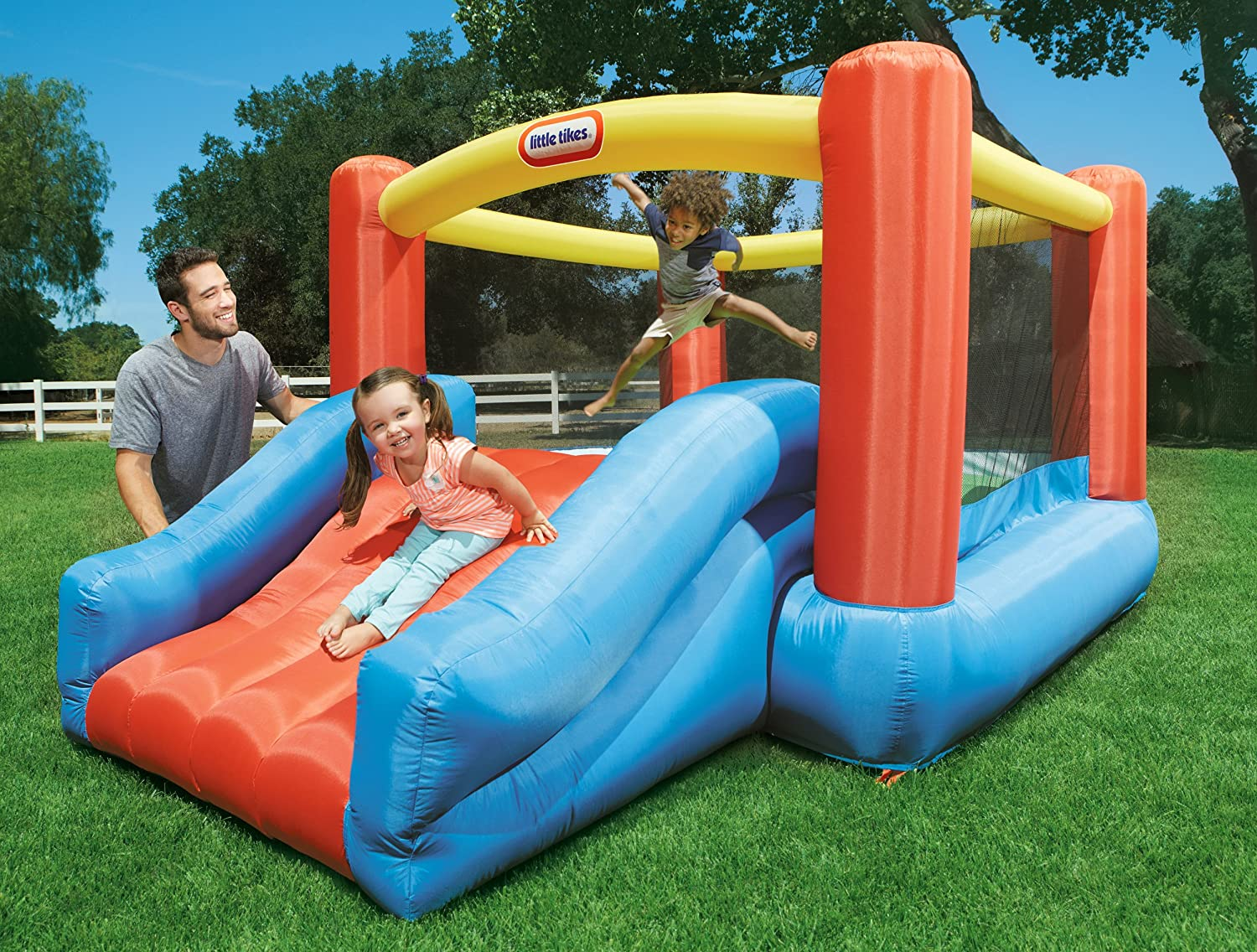 An Image of Little Tikes Junior Jump N Slide Bouncer
