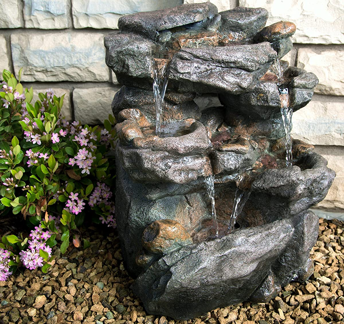 Virginia Rock Water Fountain - Stunning Garden 