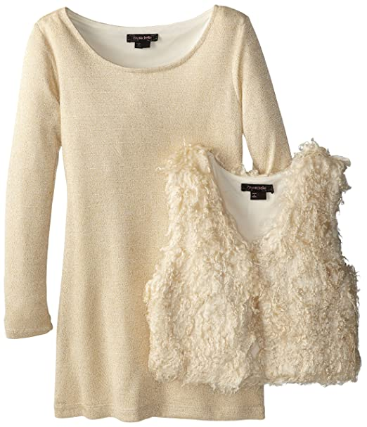 My-Michelle-Big-Girls-Sweater-Dress-with-Furry-Vest