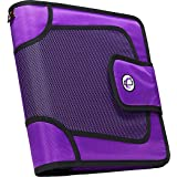 Case-it Open Tab Velcro Closure 2-Inch Binder with Tab File, Purple, S-816-PUR (Color: Purple)