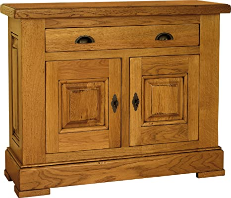 Cabinet Unit in Solid Oak 2 Door 1 Drawer
