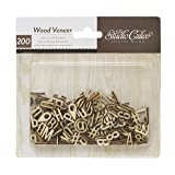 American Crafts Studio Calico Darling Dear Wood Veneers, Alphabet and Numbers