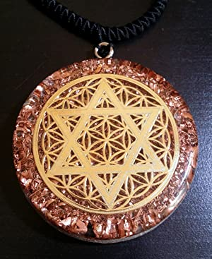 Star of david flower of life orgone pendant generator energy star of david flower of life orgone pendant generator energy accumulator emf protection 225 inch aloadofball Choice Image