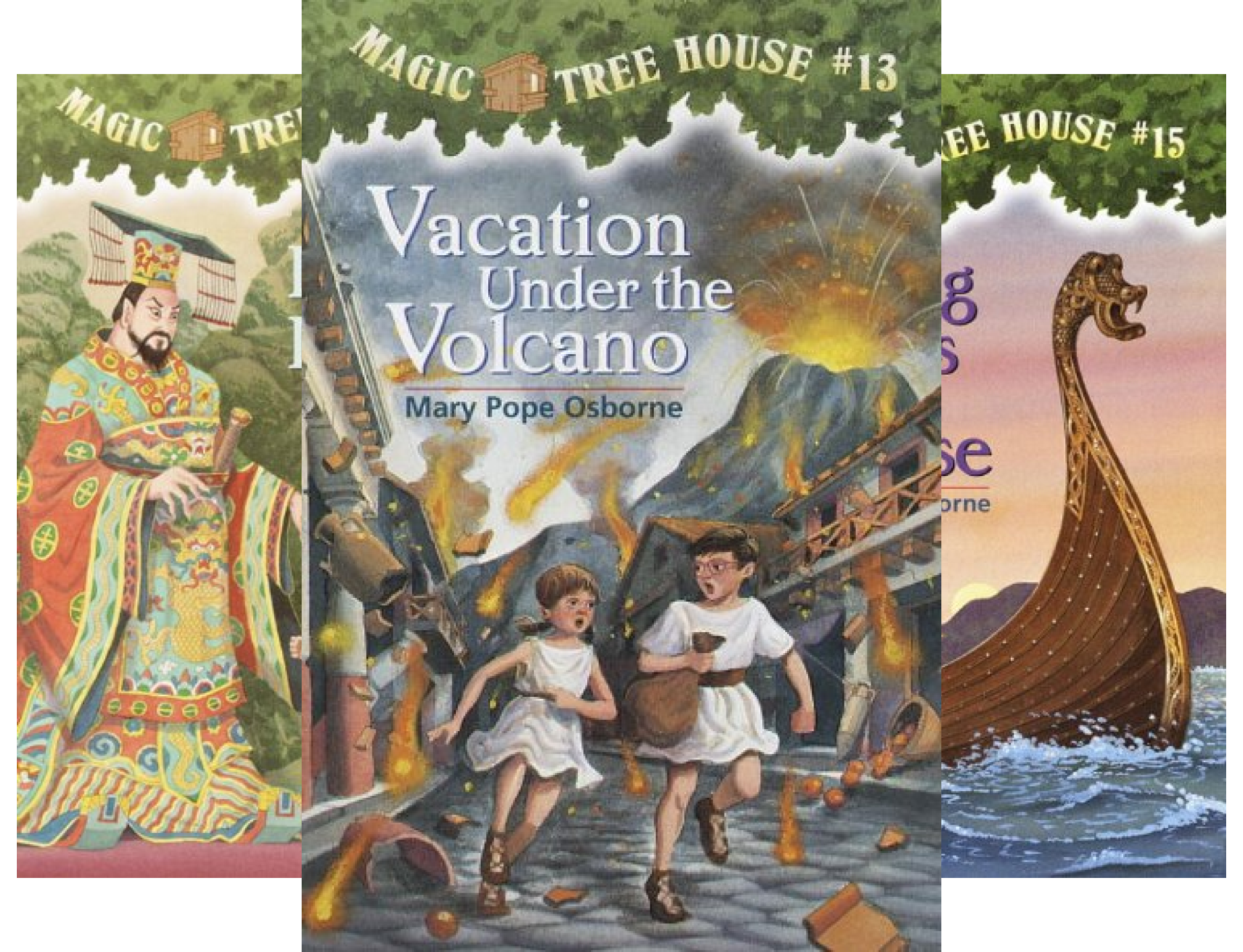 Magic Tree House, Books 13-16: Vacation Under the Volcano, Day of the Dragon King, Viking Ships at Sunrise, and Hour of the Olympics (Magic Tree House Volcano compare prices)