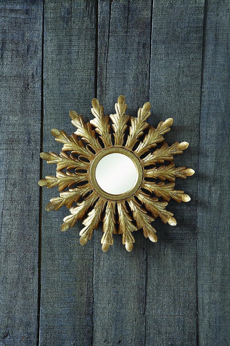 Creative Co-Op Metal Starburst Mirror, Gold