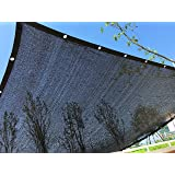 YGS Perfect Sunblock Shade Cloth With Grommets 70% UV 10 ft x 20 ft Black for Plant Cover Greenhouse Barn Kennel Pool Pergola or Swimming Pool (Color: Black, Tamaño: 10ftX20ft)