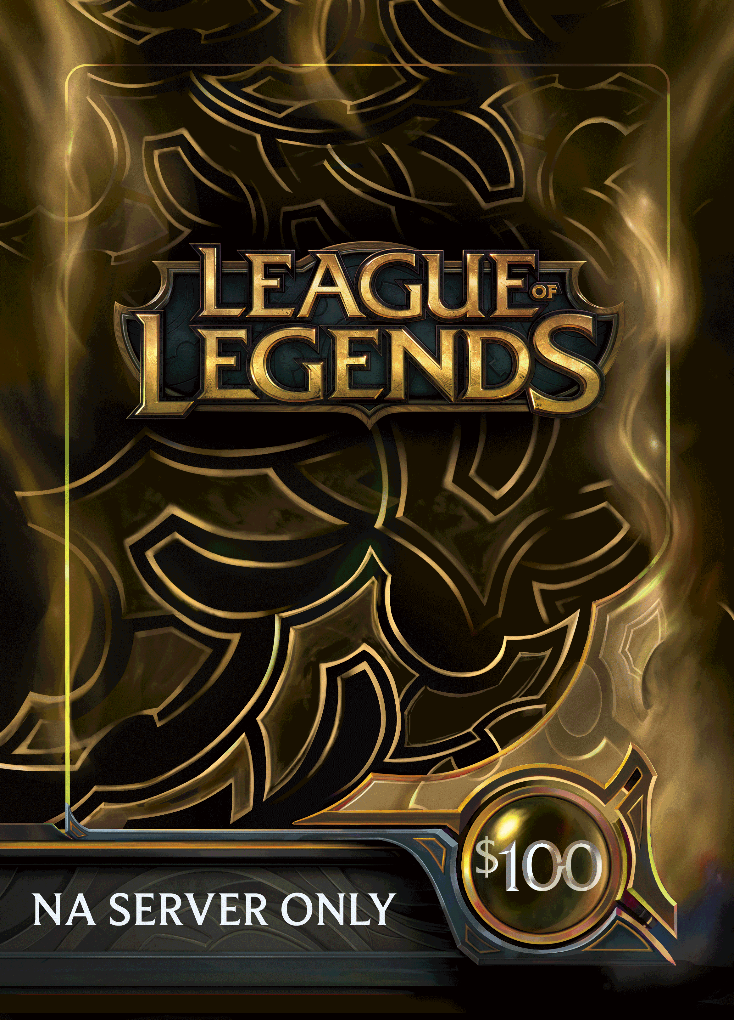League of Legends $100 Gift Card - 15000 Riot Points - NA Server ...