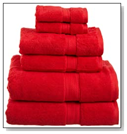 Egyptian Cotton 6Piece Towel Set Red