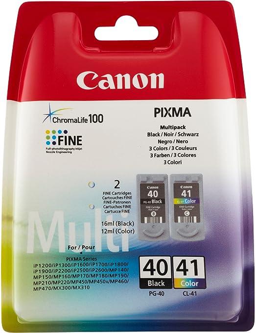 Canon 0615B051 Cartouche d'encre Noir, Bleu, Rose, Jaune