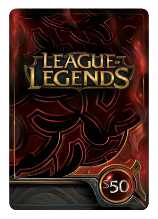 League of Legends $50 Gift Card - 7200 Riot Points [Online Game Code]
