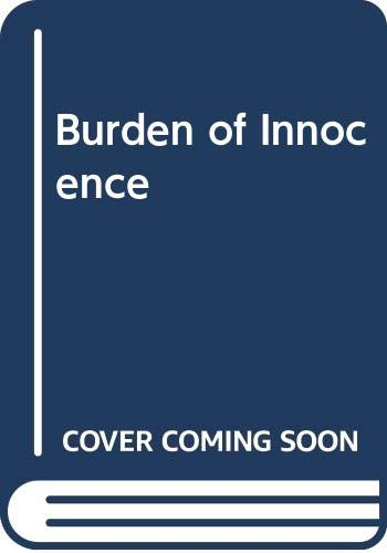 Very Good Burden of Innocence Wilson, Patricia 0263787648