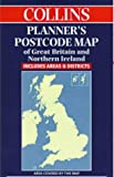Great Britain: Collins Planner's Postcode Map of Great Britain and Northern Ireland