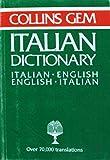 Collins: Collins Gem Italian English English Ital (Gem Dictionaries)