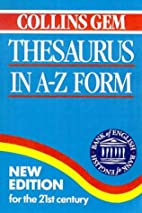Thesaurus in A-Z Form (Collins GEM)