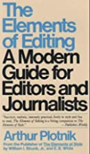 The Elements of Editing: A Modern Guide for…