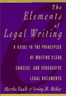 The Elements of Legal Writing by Martha…