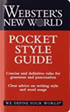 Webster's New World Pocket Style Guide by…