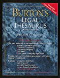 Burton, William C.: Burton's Legal Thesaurus