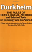 Rules of Sociological Method by Émile…