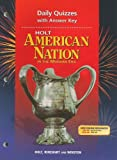 Paul Boyer: Holt American Nation Daily Quizzes with Answer Key: In the Modern Era