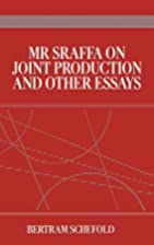 Mr Sraffa on Joint Production and Other…
