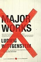 Major Works: Selected Philosophical Writings…