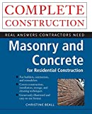 Beall, Christine: Masonry and Concrete
