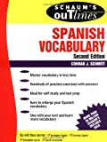 Schmitt, Conrad: Schaum's Outline of Spanish Vocabulary