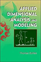 Applied dimensional analysis and modeling by…