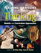 Teaching Strategies that Promote Thinking:…