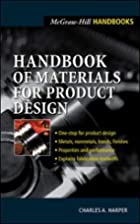 Handbook of Materials for Product Design by…