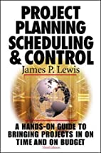 Project Planning, Scheduling & Control, 3rd…
