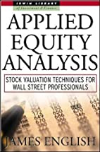 Applied Equity Analysis: Stock Valuation…