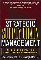 Strategic Supply Chain Management by…