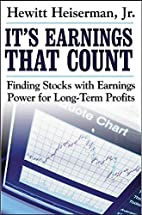 It's Earnings That Count: Finding Stocks…