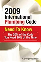 2009 International Plumbing Code Need to…