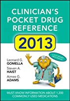 Clinicians Pocket Drug Reference 2013 by…