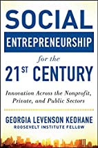 Social Entrepreneurship for the 21st…
