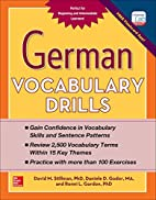 German Vocabulary Drills by David Stillman