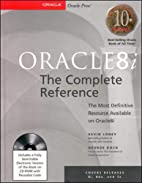 Oracle8i: The Complete Reference…