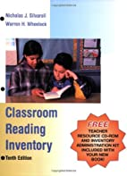 Classroom Reading Inventory by Nicholas…