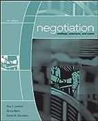 Negotiation by Roy J. Lewicki