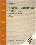 Ed by Theodore d Goldfarb: Sources Notable Selections in Enviromental Studies