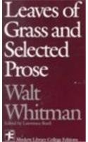 Leaves of Grass and Selected Prose by Walt…