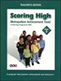 Wright Group/McGraw-Hill: Scoring High on the MAT 8 - Teacher Edition with Poster - Grade 2