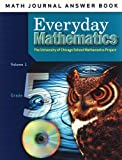 McGraw-Hill, Wright Group: Math Journal Answer Book Volume 1 for Grade 5 Everyday Mathematics